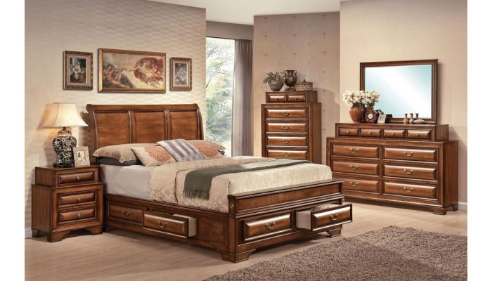 Romanoff Bed With Storage Drawers