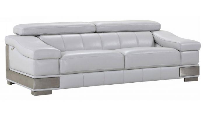 Surprising Rosetta Genuine Leather Sofa Light Gray Bralicious Painted Fabric Chair Ideas Braliciousco