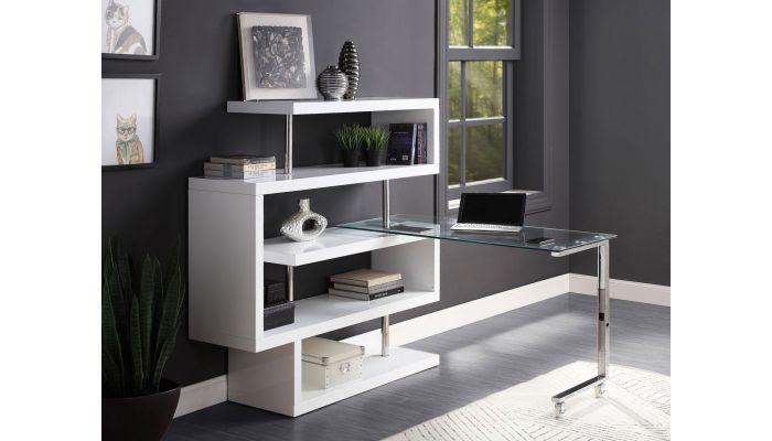 Rowan Bookcase Swivel Desk