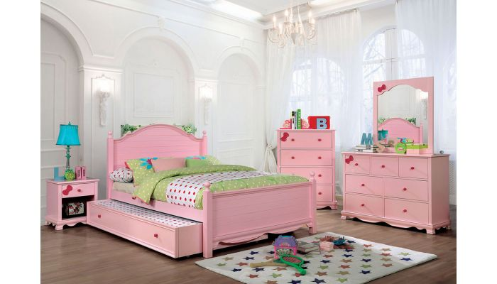 Roxanne Pink Youth Bed Collection