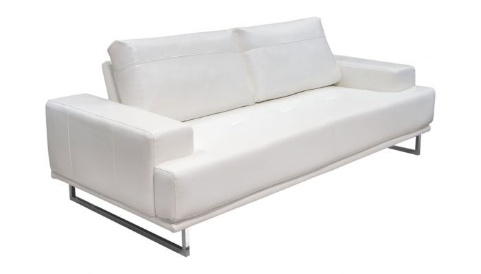 Miraculous Bradly Modern White Leather Sofa Ocoug Best Dining Table And Chair Ideas Images Ocougorg