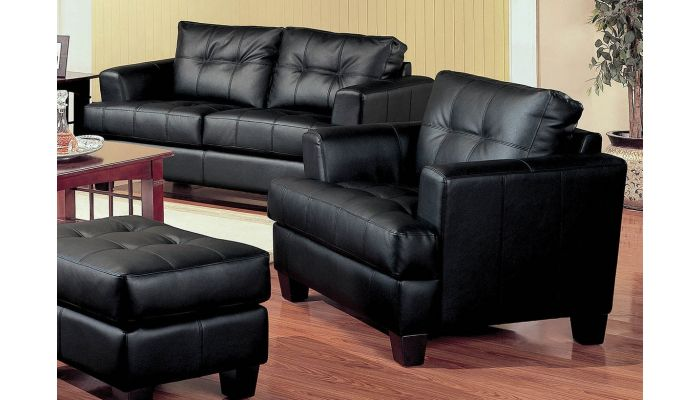 Amazing Samuel Black Leather Sofa Collection Spiritservingveterans Wood Chair Design Ideas Spiritservingveteransorg