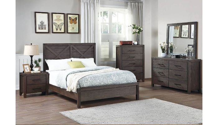 Sanibel Industrial Style Bed Collection