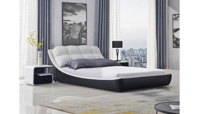 Santuzza Modern Leather Bed