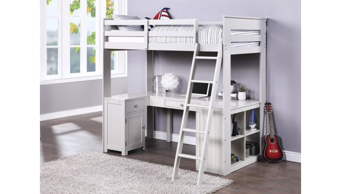 School House Loft Bed With Desk And Storage