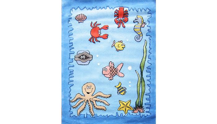 Sea World Kids Room Hand Tufted Rug
