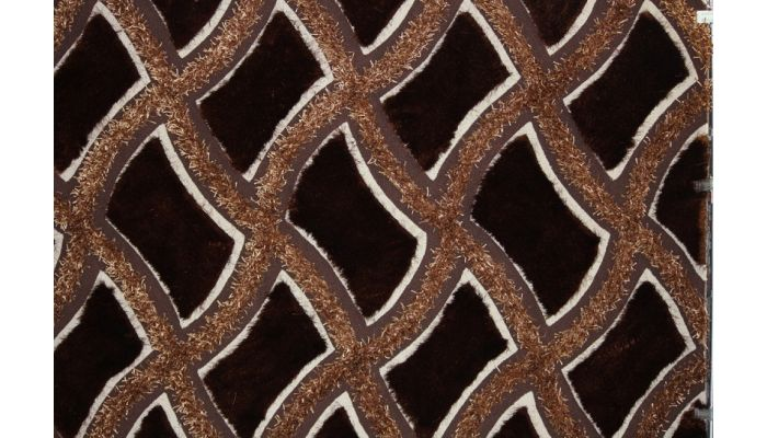 Shaggy Viscose Brown Rug Design 75