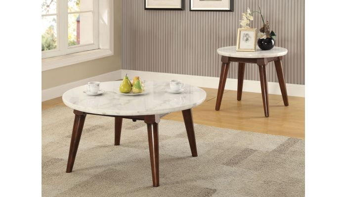 Sherman Round Marble Top Coffee Table