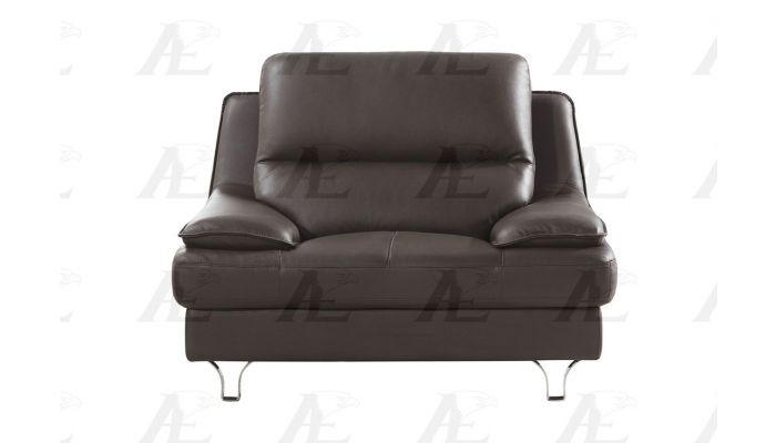 Cool Sidon Dark Brown Genuine Leather Sofa Unemploymentrelief Wooden Chair Designs For Living Room Unemploymentrelieforg