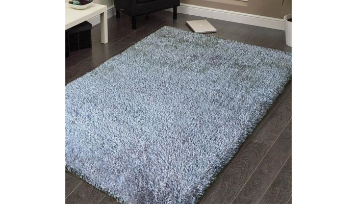 Shag Visco Hand Tufted Silver Rug