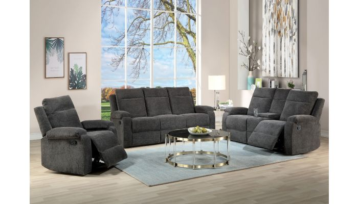 Snyder Chenille Fabric Recliner Sofa