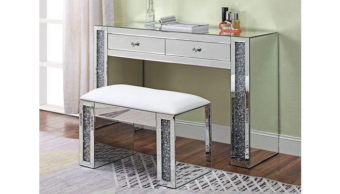 Sofia Mirrored Vanity With Drawers