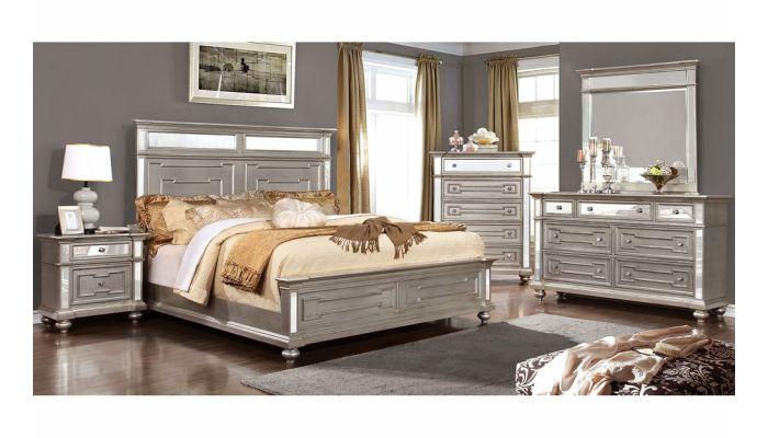 Soho Silver Finish Bedroom Furniture