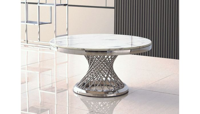 Solstic Marble Top Round Coffee Table