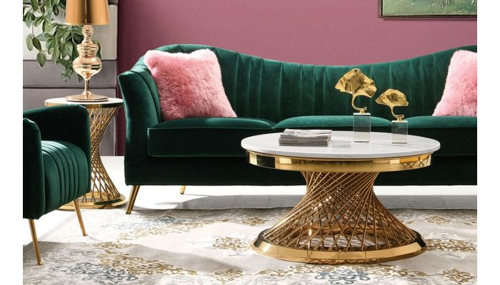 Solstice Marble Top Coffee Table