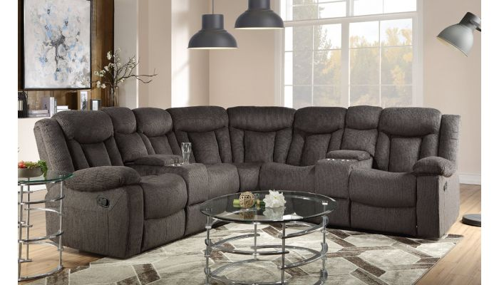 Somerton Recliner Sectional With Consoles
