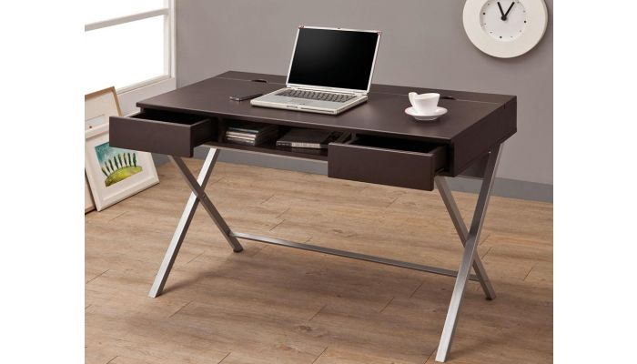 Space Computer Desk With Power Outlet