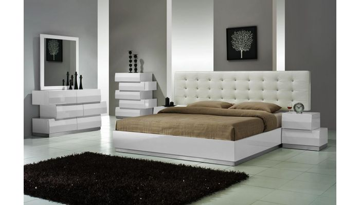 Spain White Lacquer Bedroom Set
