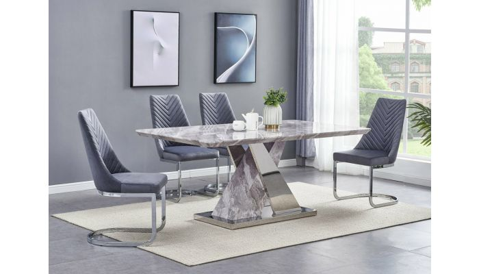 Stanford Marble Dining Table Set