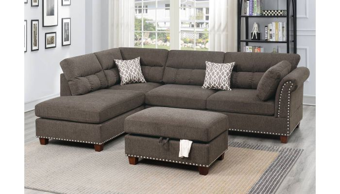 Stanza Sectional With Ottoman Set