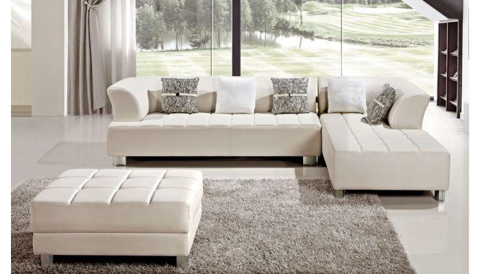 Peachy Star Modern Leather Sectional Couch Creativecarmelina Interior Chair Design Creativecarmelinacom
