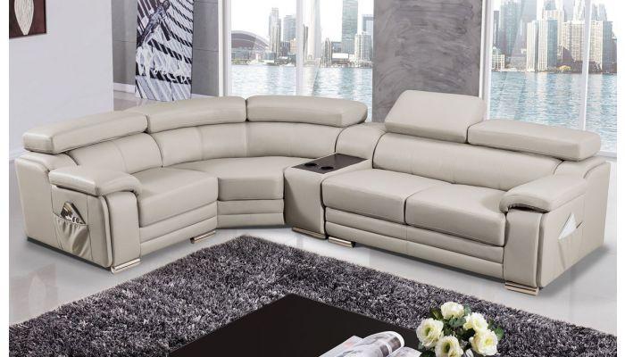 Stella Genuine Leather Modern Sectional