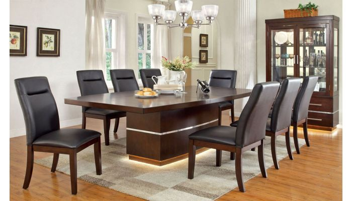 Stephen Formal Dining Table With Lighting