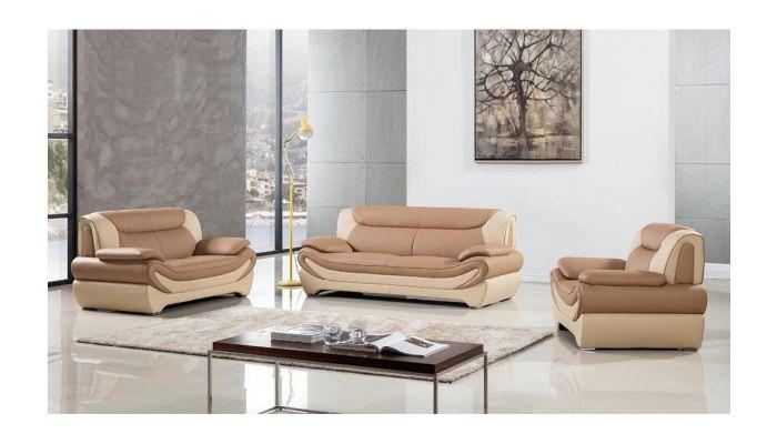 Sterling Modern Leather Sofa Set