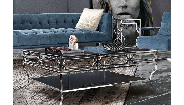 Studio Modern Glass Top Coffee Table