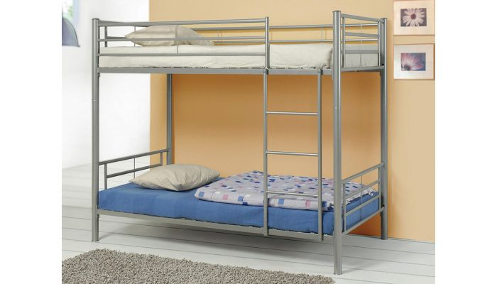 Swan Silver Twin Over Twin Bunkbed