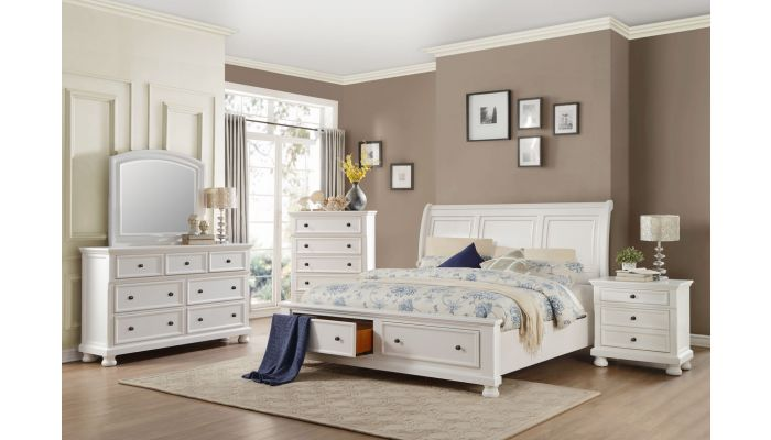 Sylvania Transitional Style Storage Bed