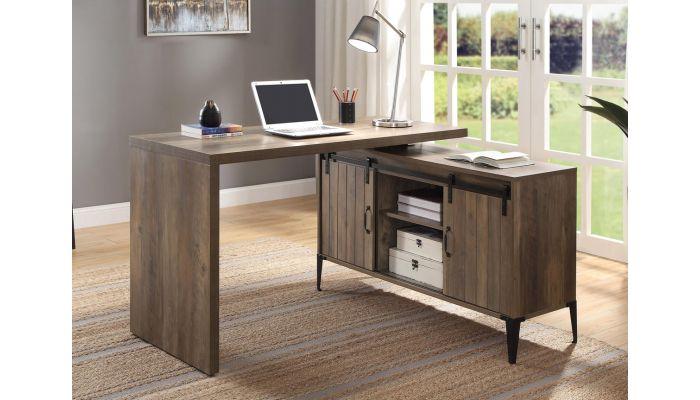 Tacna Desk With Swivel Top Oak Finish