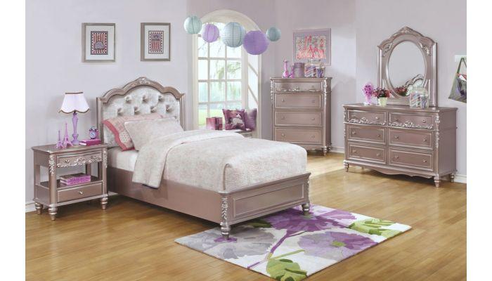 Tatiana Silver Finish Bedroom Furniture
