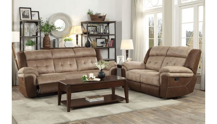 Tayle Two Tone Fabric Recliner Sofa