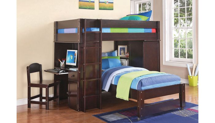 Tegan Bunkbed With Desk