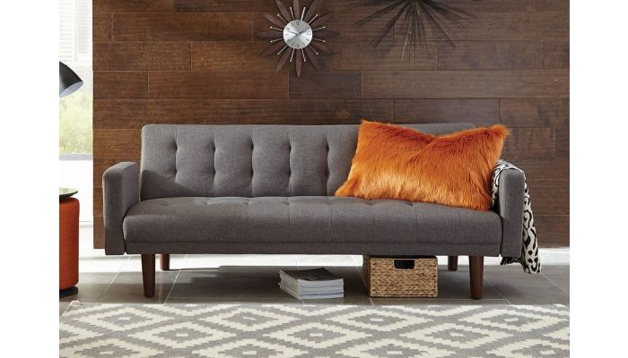 Tejon Sofa Bed Grey Linen Fabric