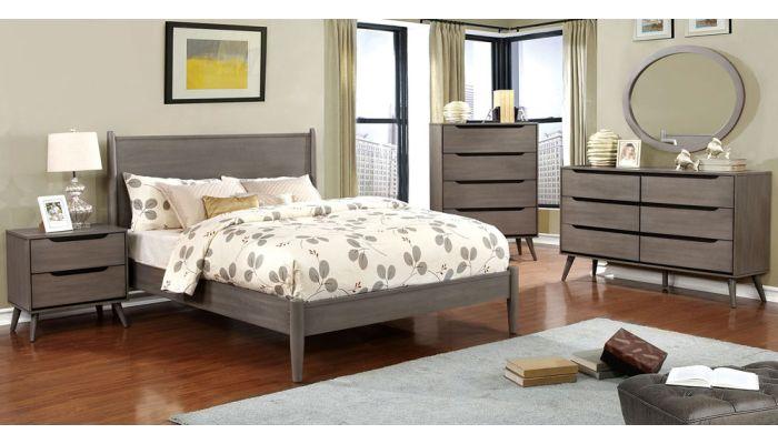 Terris Grey Modern Bedroom Furniture