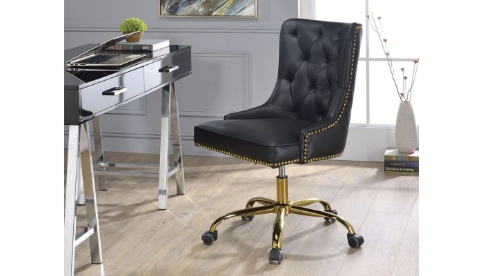 Terry Tufted Leather Office Chair