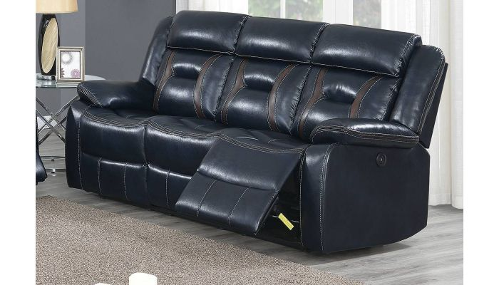 Sensational Theodore Ink Blue Leather Recliner Sofa Alphanode Cool Chair Designs And Ideas Alphanodeonline