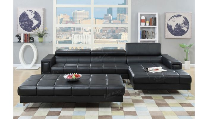Topaz Sectional With Adjustable Backs