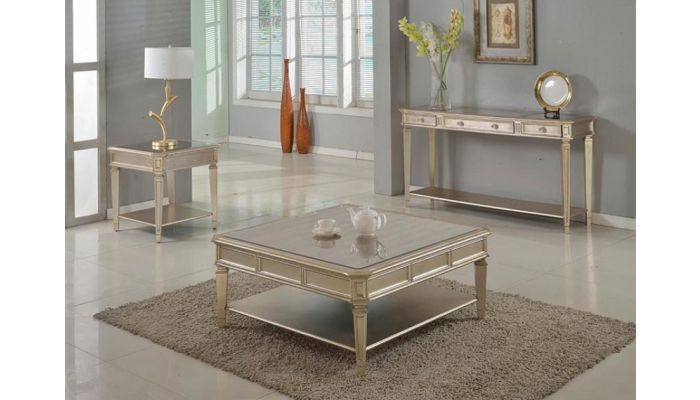Townsend Mirrored Top Coffee Table