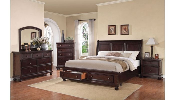 Trend Traditional Style Bed With Drawers