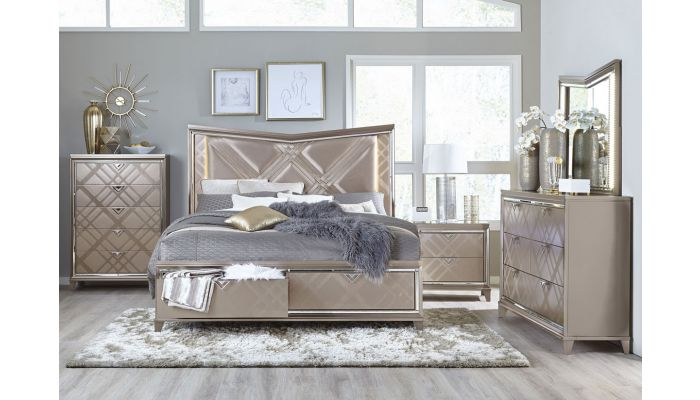 Treviso Storage Bed With LED Lights