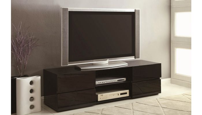 Finley Black Lacquer Finish TV Stand