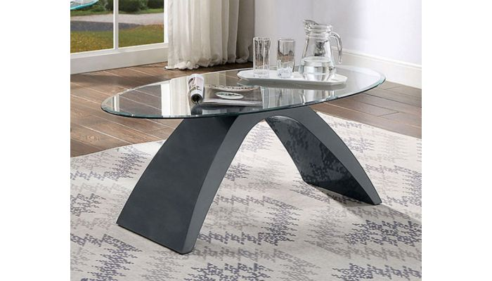Tyra Grey Lacquer Coffee Table