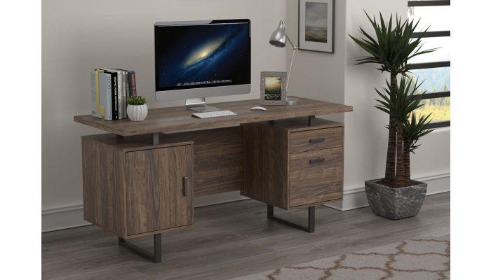 Vagan Rustic Walnut Office Desk