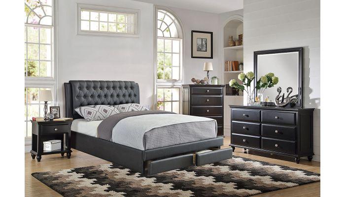 Valentino Leather Platform Storage Bed