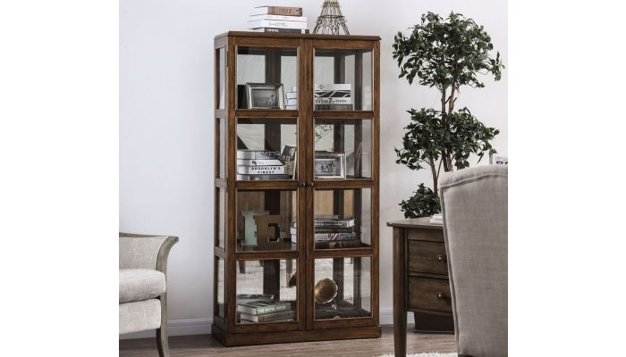Valeria Traditional Style Curio Cabinet
