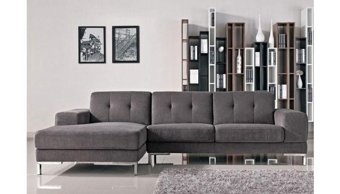 Vanda Grey Fabric Modern Sectional