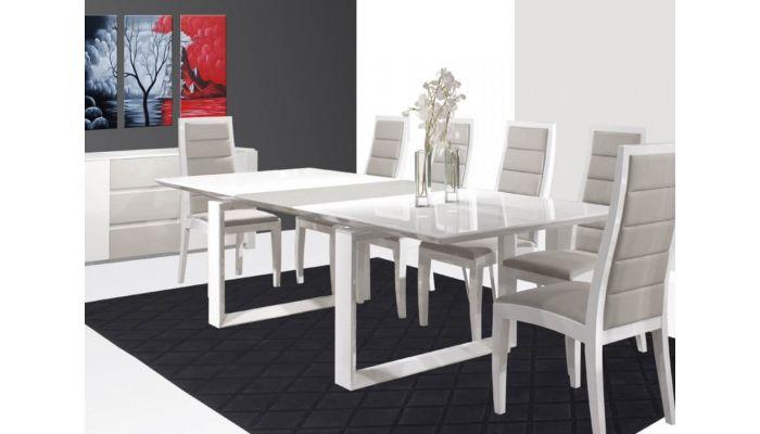 Vanguard White Formal Dining Table Set
